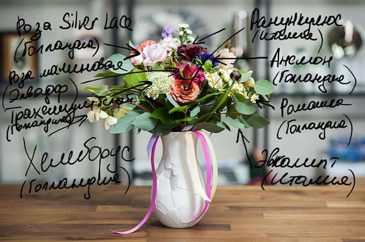 Букет в вазе Vase of Phases от Rosenthal (Германия)