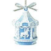Елочное украшение Baby's First Carousel Blue