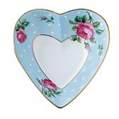 Блюдце Heart Polka Blue