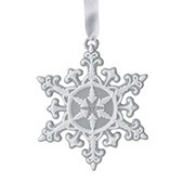 Елочное украшение Neoclassical Snowflake Grey