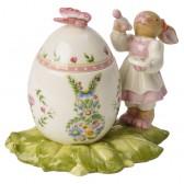 """Шкатулка """"Bunny-девочка и пасхальное яйцо"""""""