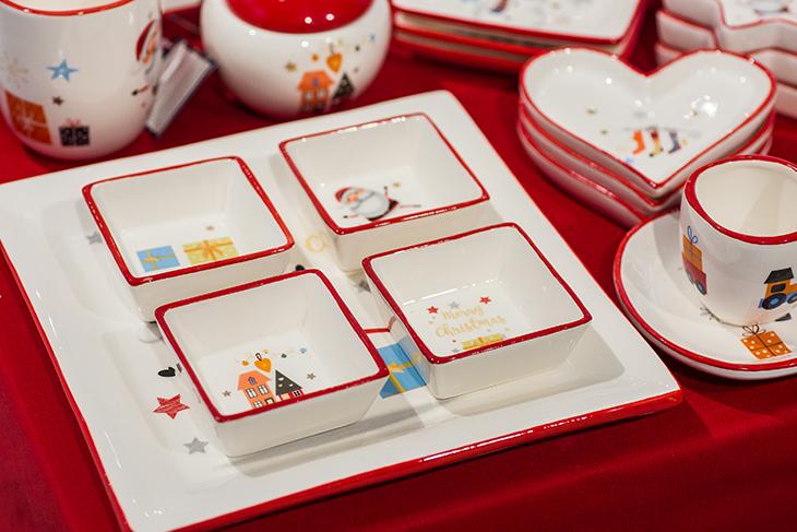 Набор блюд для закусок Christmas Red Cocktail, 5 предметов, Tognana