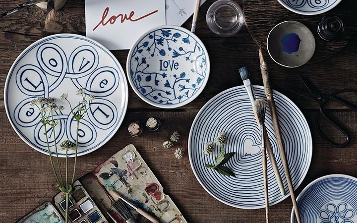 Набор тарелок из коллекции Blue Story
